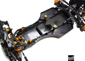 Exotek DEX 210 +8mm Carbon Fiber ChassisKit